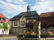 Marktbrunnen mit Rathaus