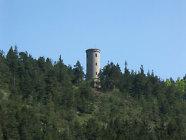 Blick auf die Gölitzwände mit Baropturm